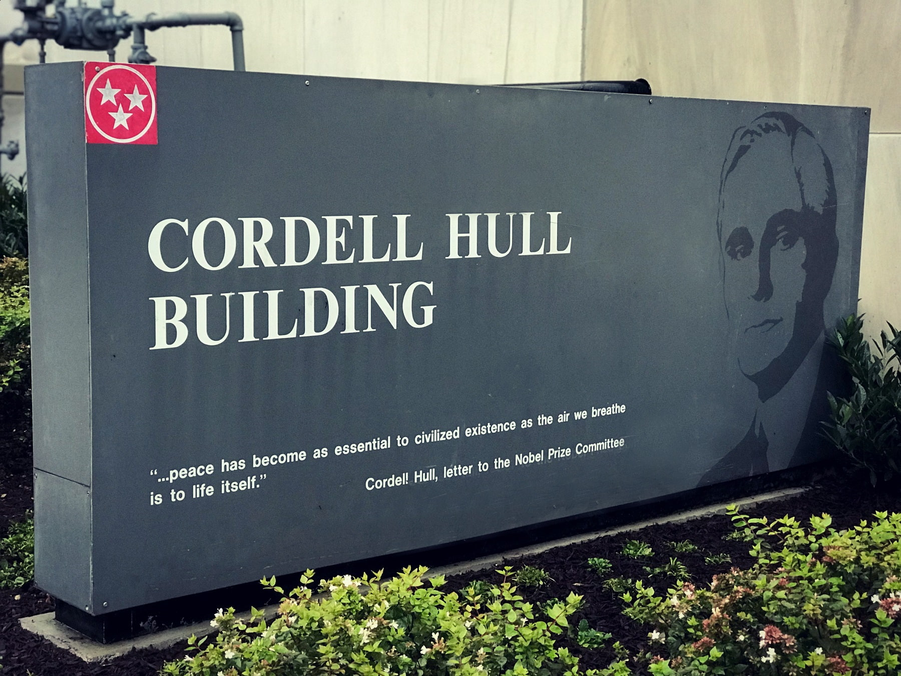 picture of sign for Cordell Hull Building in TN